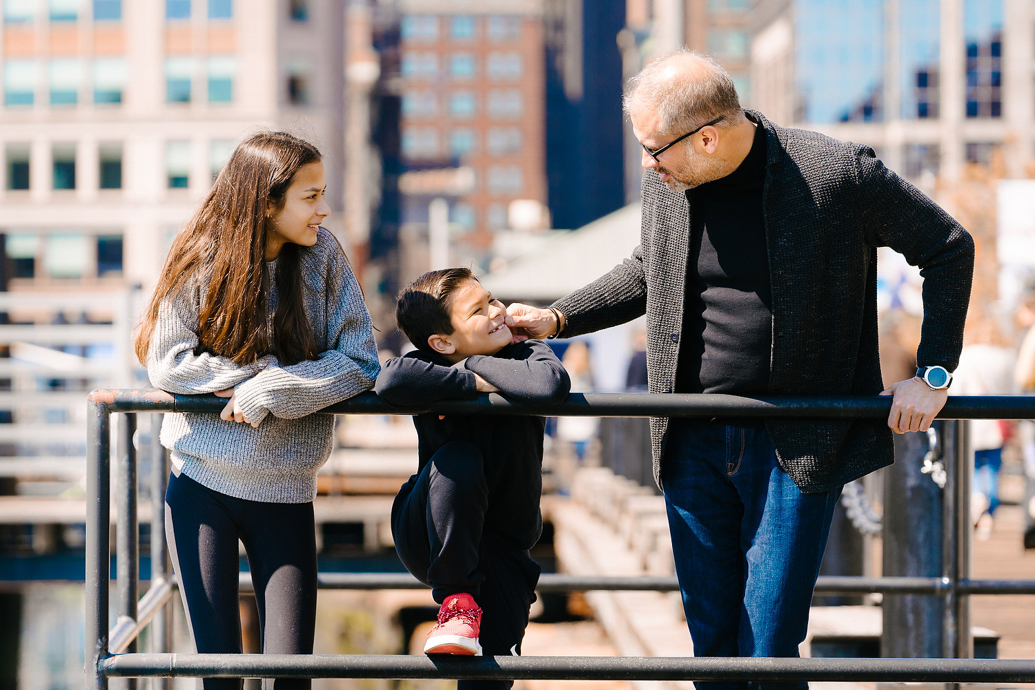 family photo session in Boston downtown 7