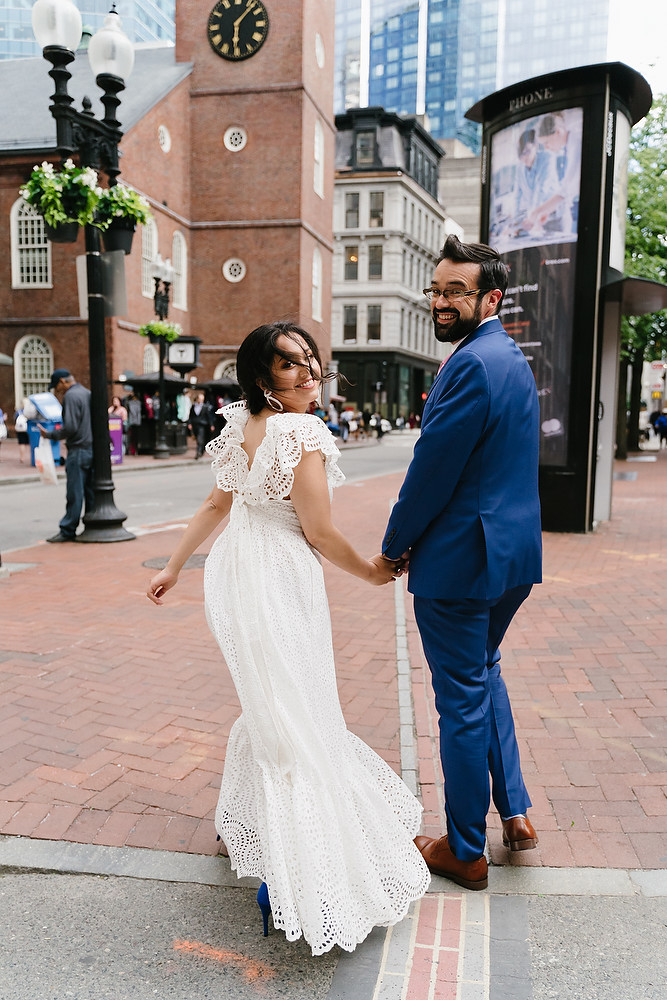 Boston Old South Meeting House wedding photo session 9