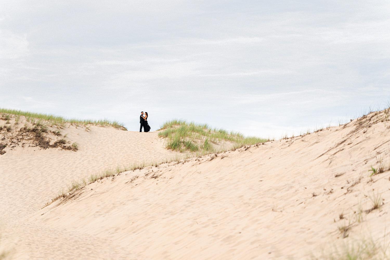 Provincetown dunes engagement session