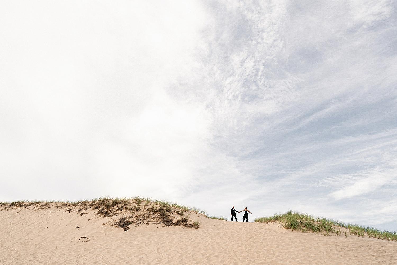 Provincetown dunes engagement session - Provincetown Engagement photographer